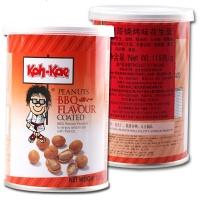 大哥牌 烧烤味花生豆 脆皮花生米鱼皮花生 休闲零食 115g/罐 泰国进口